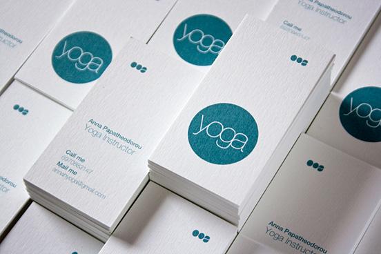 Modern Yoga Business Card Design - yoga business cards