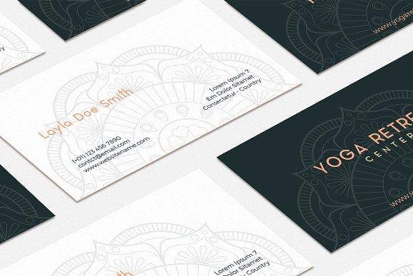 Yoga Retreat Center Business Card - yoga business cards