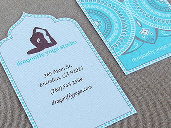 Dragonfly Yoga Studio Business Card - yoga business cards