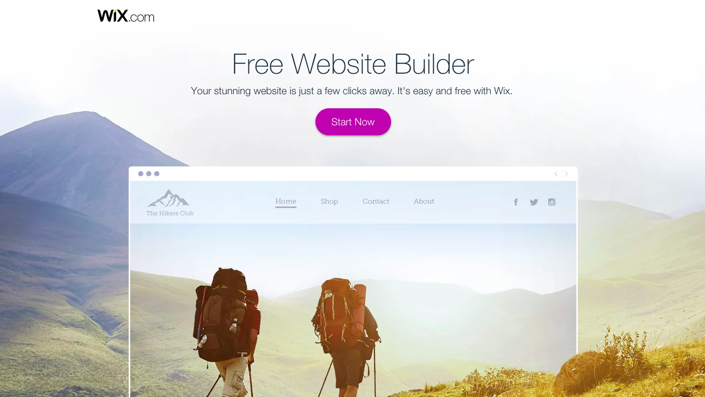 Wix Landing Page - landing page examples