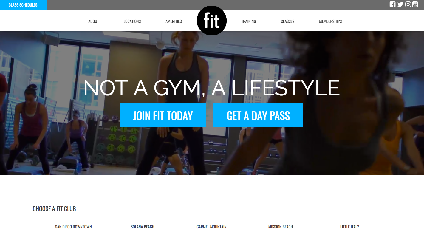 Fit Landing Page - landing page examples