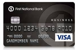 First National Bank secured credit card