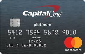 CapitalOne secured credit card
