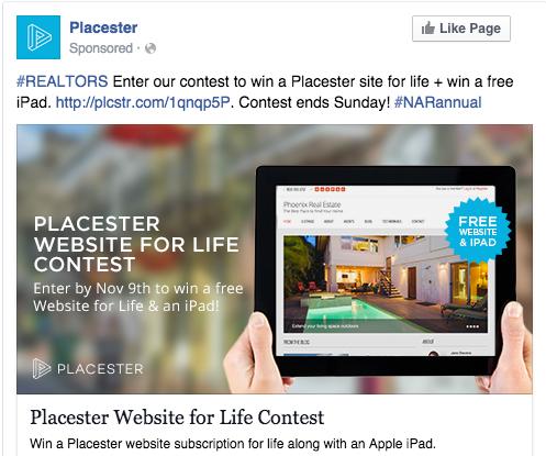 Contest Facebook real estate agent Ads - real estate facebook ads