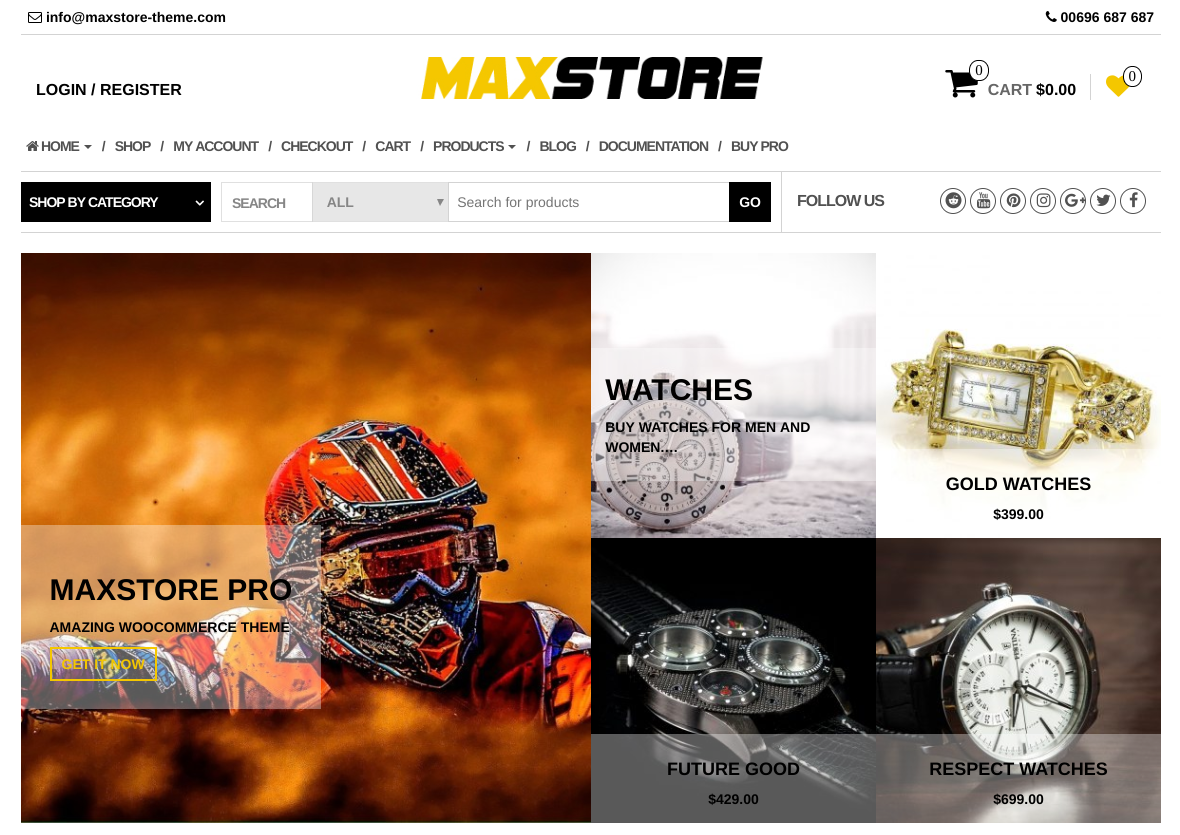 MaxStore - wordpress ecommerce themes
