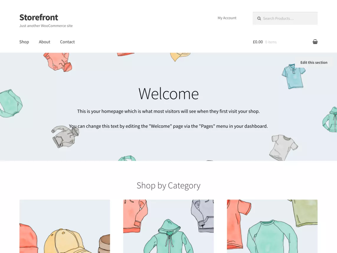Storefront - wordpress ecommerce themes
