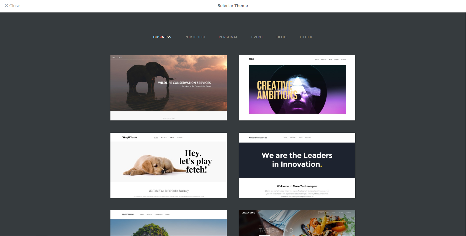 You Can Find Several Themes From Website Builders That Work For Your Business