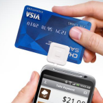 square credit card reader attached to android phone