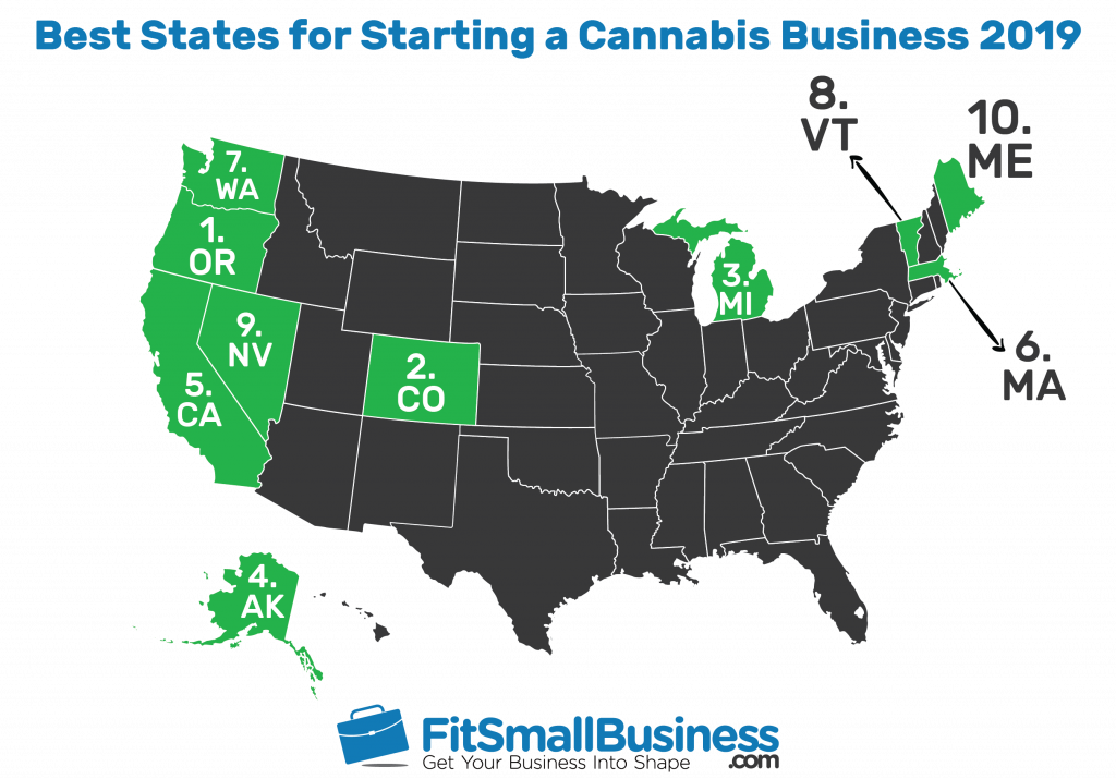 Best States for Starting a Cannabis Business 2019
