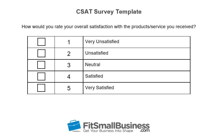 CSAT Survey Template