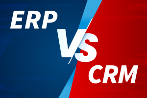 ERP vs CRM graphic