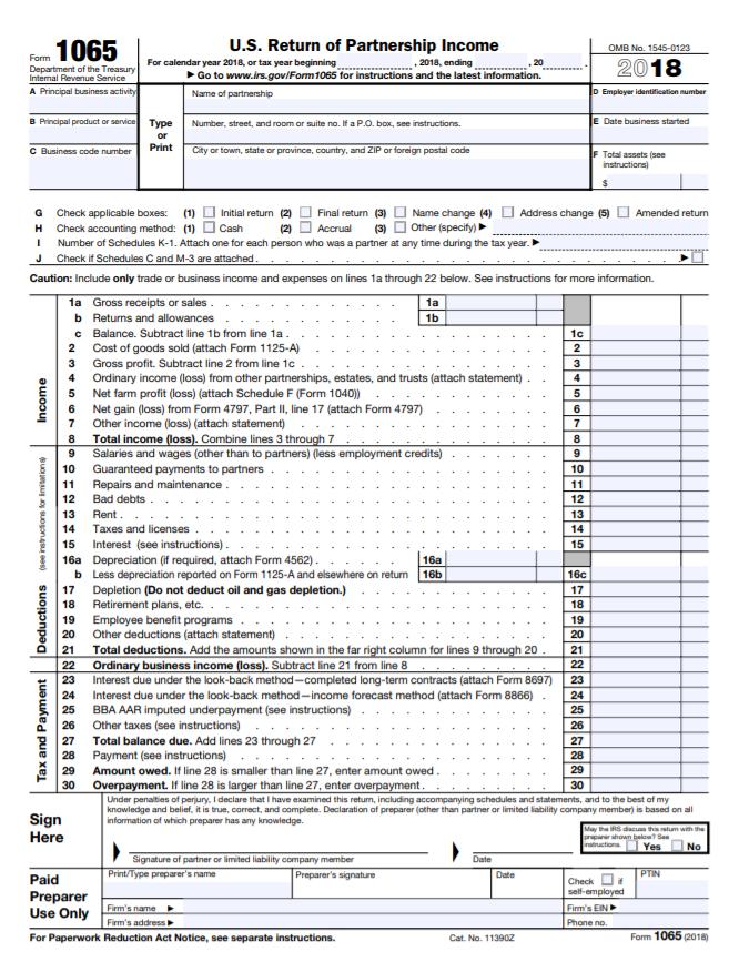 Form 1065 - llc taxes