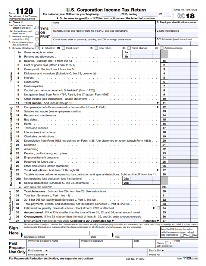 Form-1120  Form Examples For Corporation on balance sheet column example, corporation tax, m1 example, blue tax, tax return extension, line 26 worksheet, line 3-0 loss, irs tax, voucher printable,