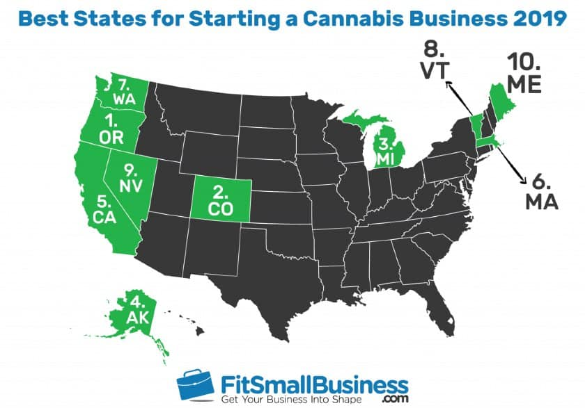 Best States for Starting a Cannabis Business