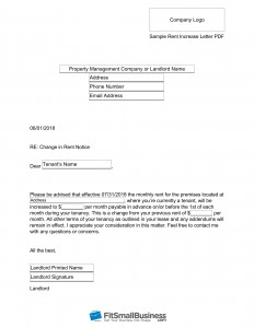 Download Free Annual Rent Increase Letter PDF Here