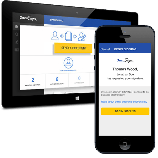 DocuSign - real estate software