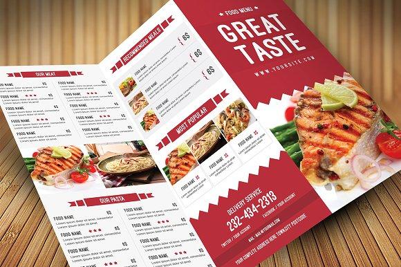 Cafeteria Menu Template - menu template