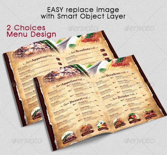 Modern Vintage Restaurant Menu Template - menu template