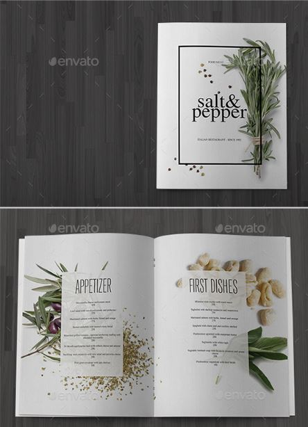 Minimalist Restaurant Menu Template - menu template