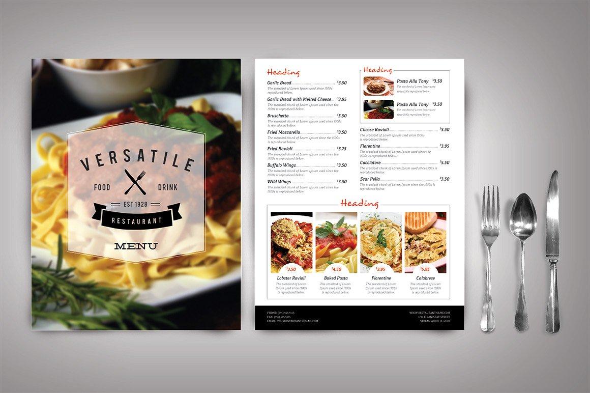 Modern Restaurant Menu Template - menu template
