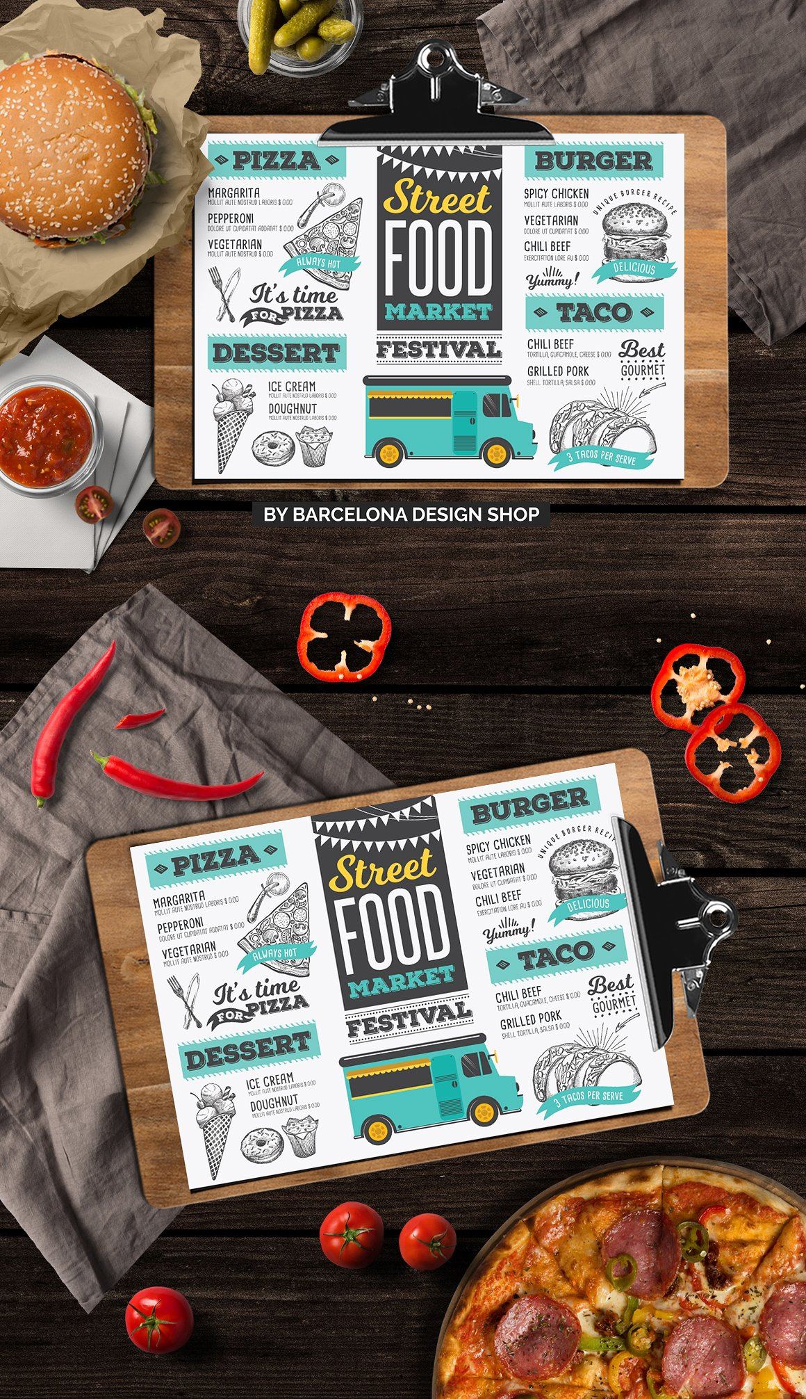 Food Truck Menu Template - menu template