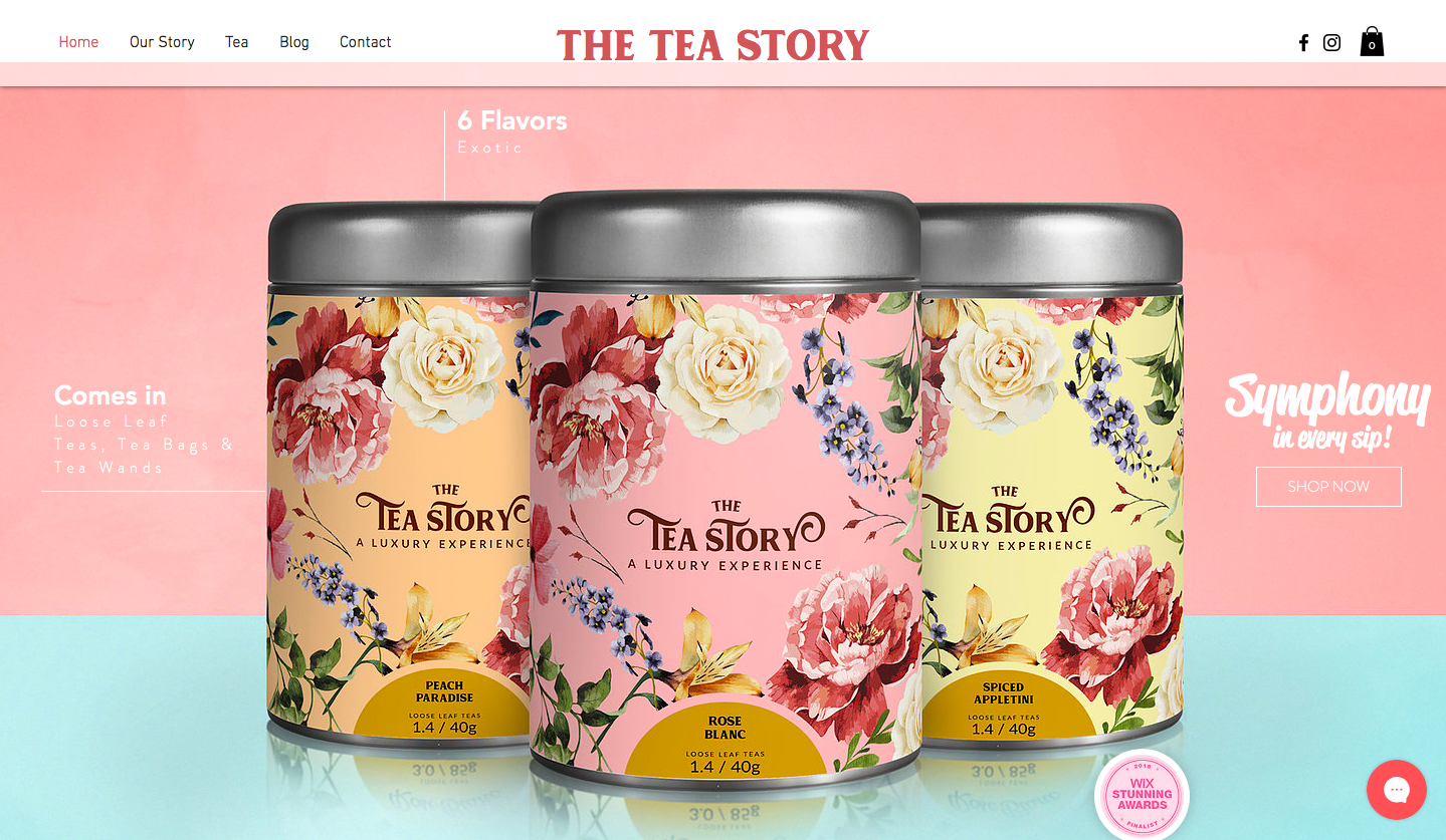 Wix Website Example - The Tea Story - how to make a website