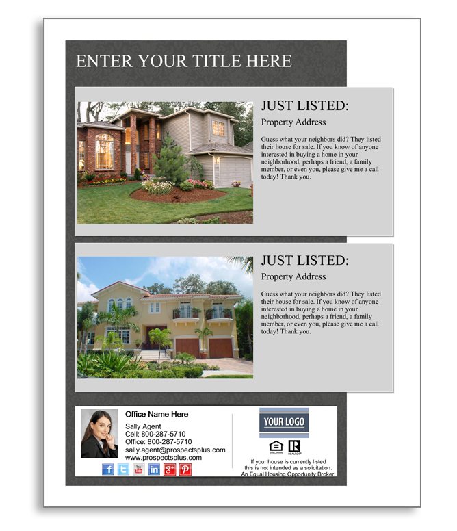 Two Property Open House Flyer - open house flyer