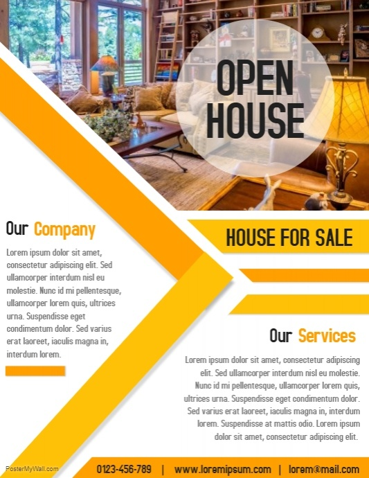 Broker Branded Open House Flyer - open house flyer