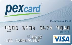 PEX Prepaid Commercial Visa Debit Card