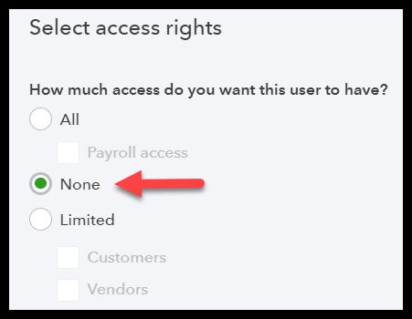 Set User's Access Rights - quickbooks multi user