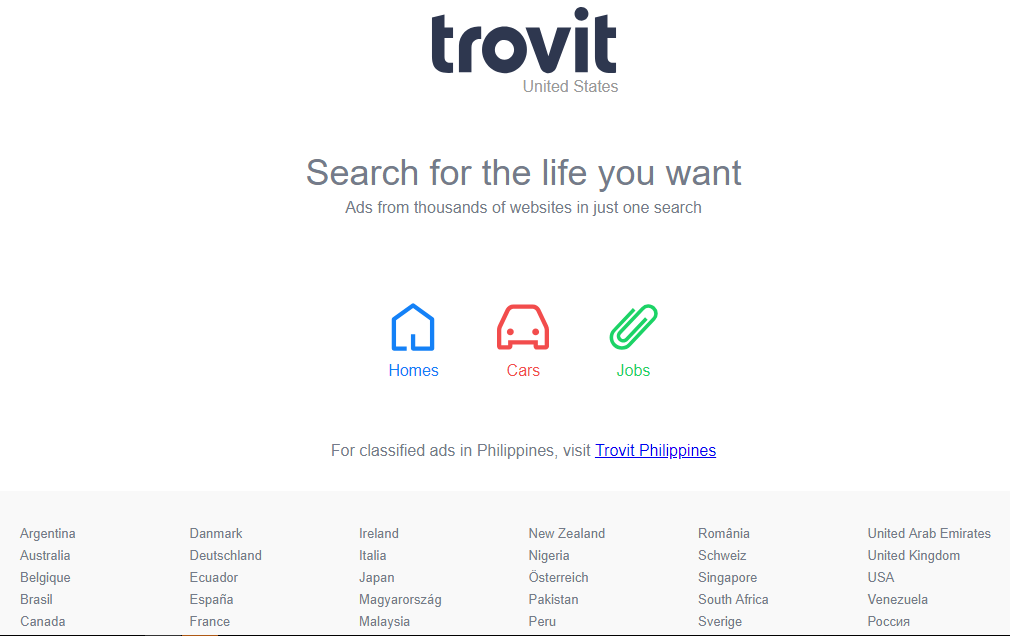 Trovit - Free Advertising Sites
