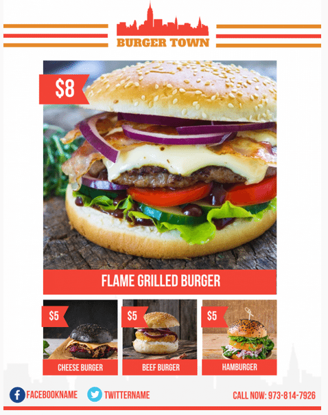 Fast Food Restaurant Menu Template - menu template