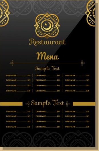Indian Restaurant Menu Template - menu template
