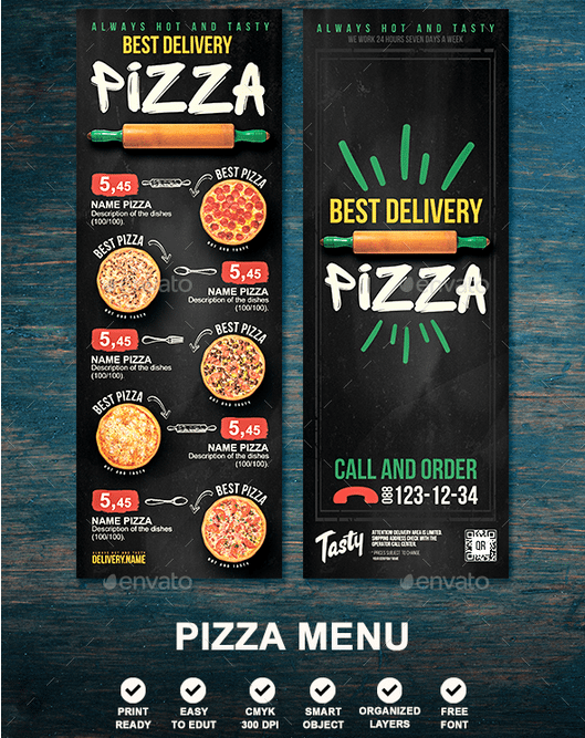 Pizza Restaurant Menu Template - menu template