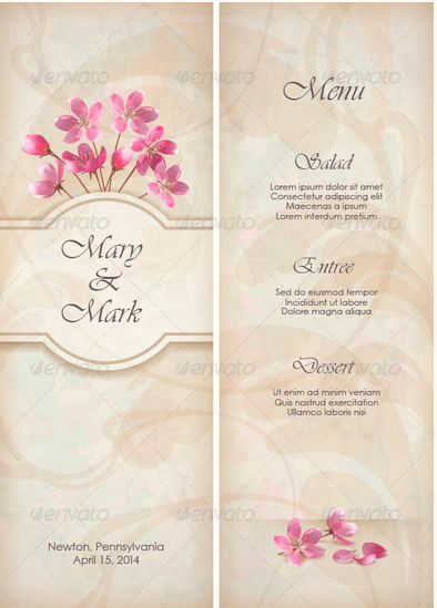 Formal Occasion Restaurant Menu Template - menu template