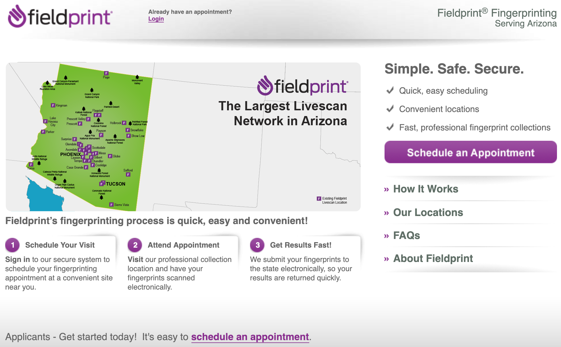 Screenshot of Fieldprint user dashboard
