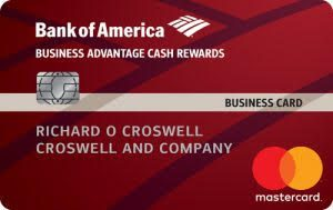 Business Advantage Cash Rewards Mastercard, Bank of America