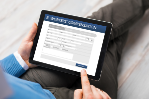 researching Colorado Workers' Compensation Insurance on ipad