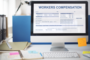 Workers Compensation on Computer Screen