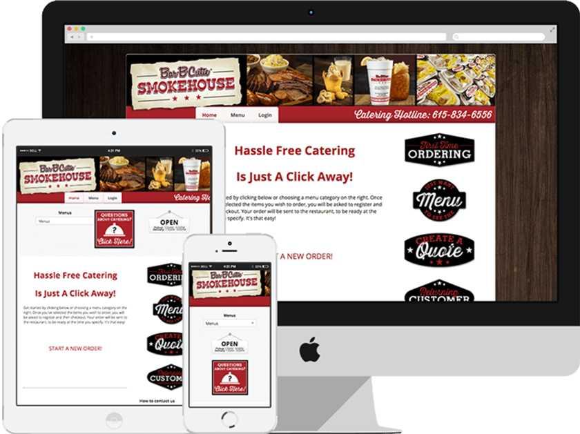 CaterZen online ordering screenshots