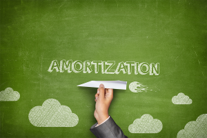 "The word ""amortization"" over a paper airplane"