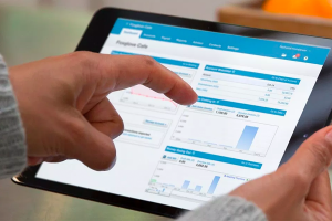 Business owner using Xero on a tablet