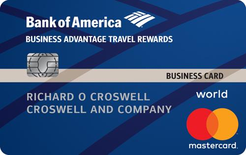 Business Advantage Travel Rewards World Mastercard, Bank of America