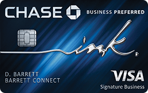 Chase Ink Business PreferredSM best small business credit card