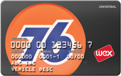 76 Universal Card fuel card