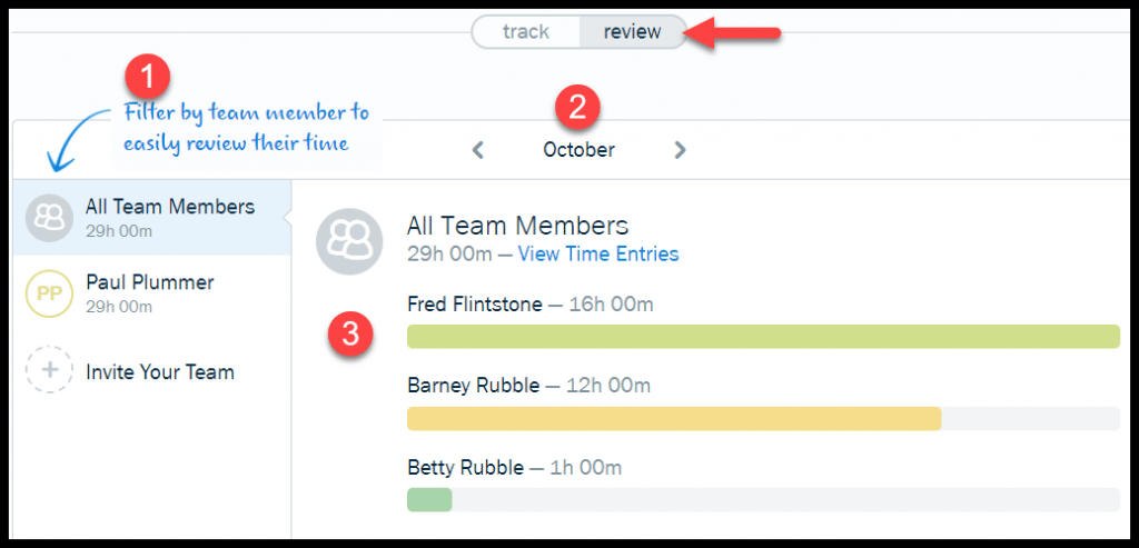 FreshBooks Time Tracker Dashboard