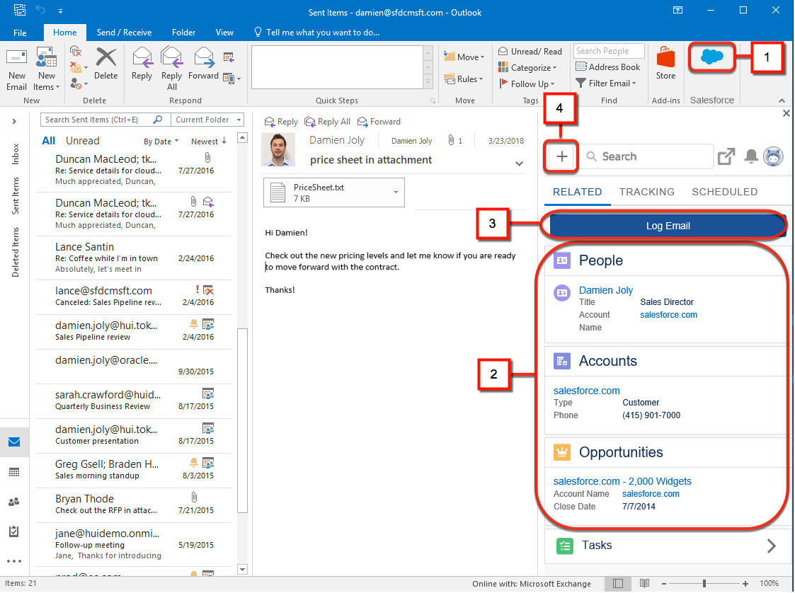 Salesforce Outlook Plugin - crm for outlook