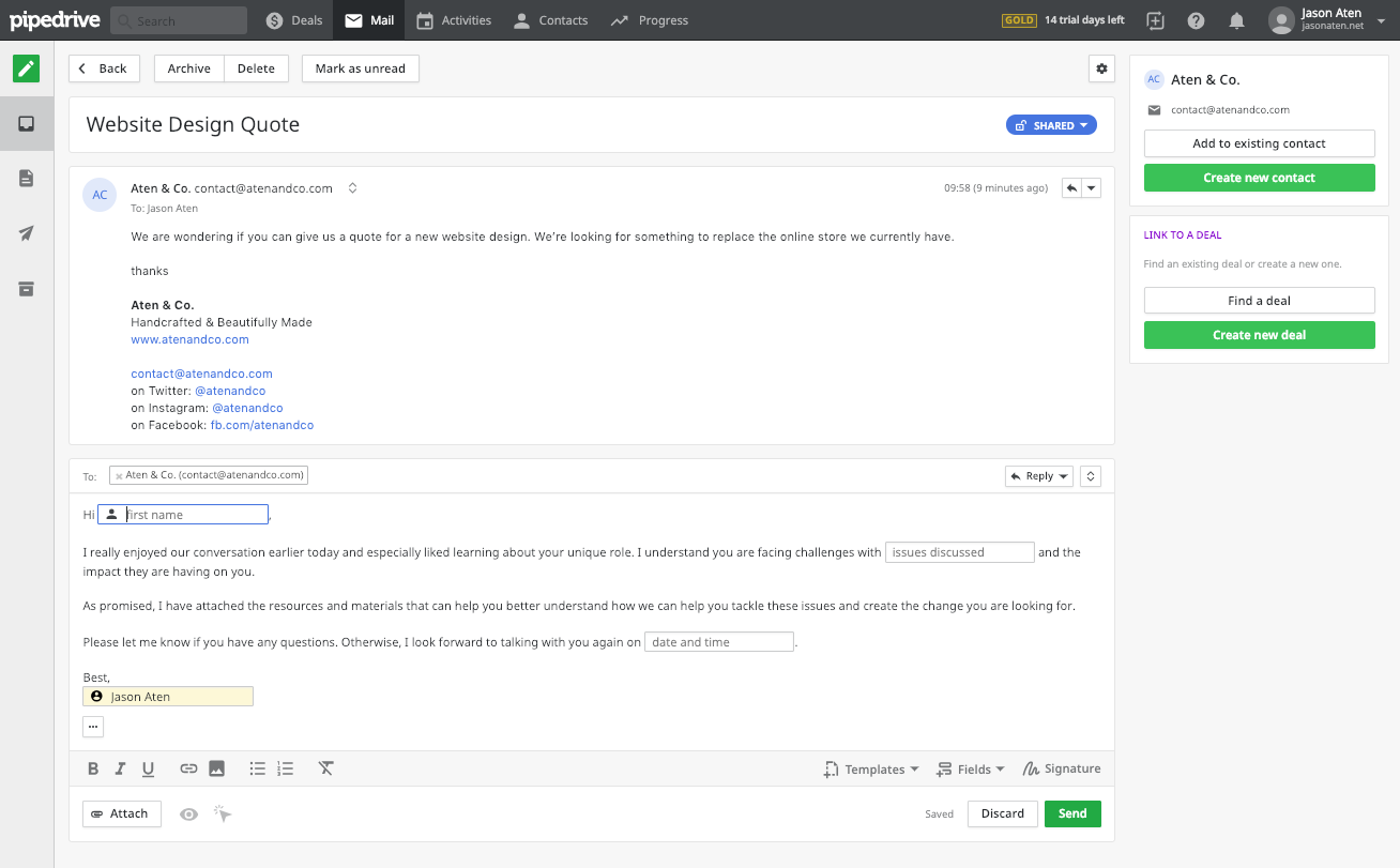 Pipedrive - crm for outlook