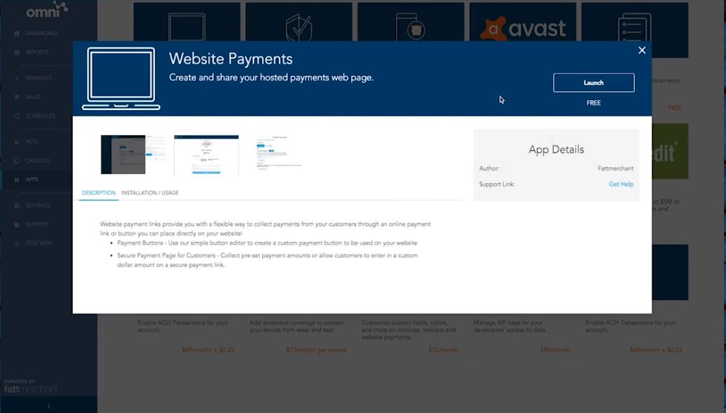 Fattmerchant payment portal