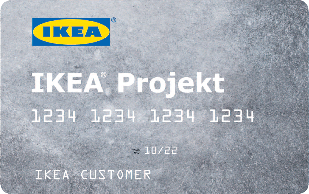 Ikea - Projekt Credit Card - home improvement credit card